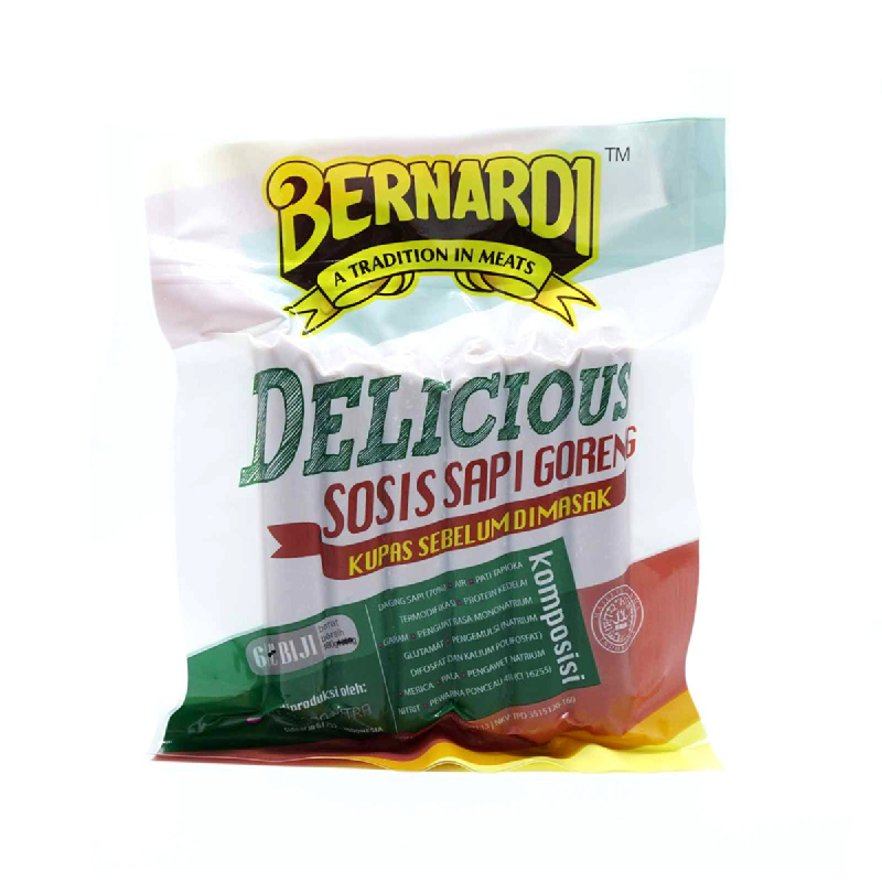Bernardi Delicious Sosis Sapi Goreng 180 Gr is 6 Pcs