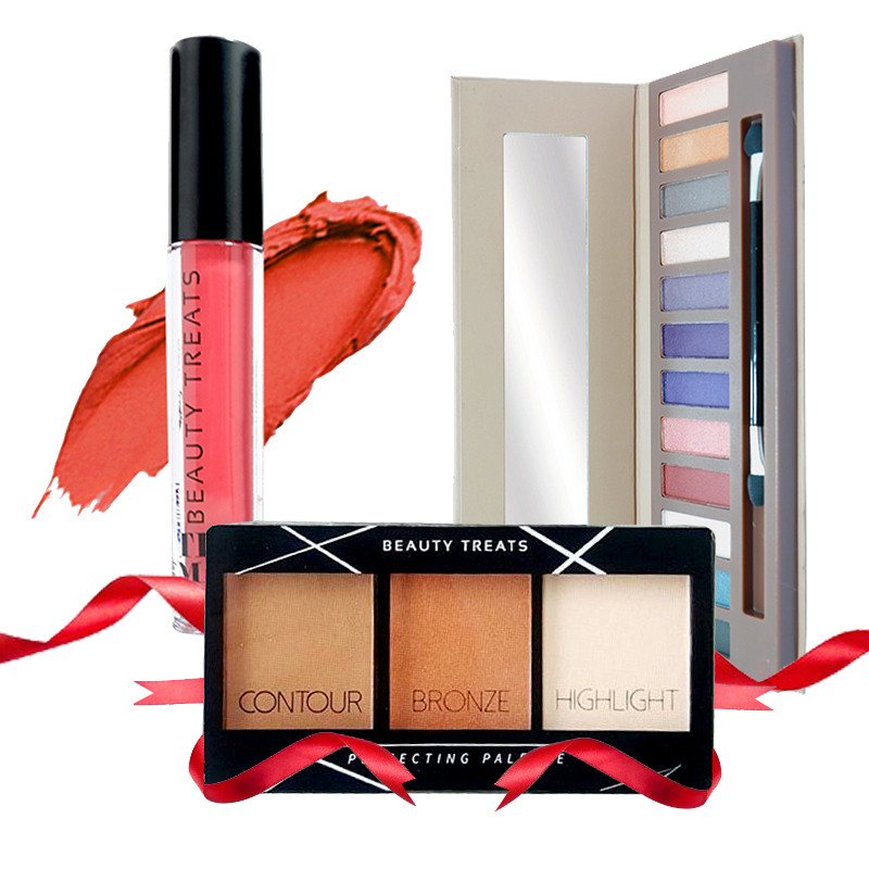 Beauty Treats Naked Eyeshadow No. 02 + Perfecting Pallete No. 02 FREE True Matte Lip Color No. 02