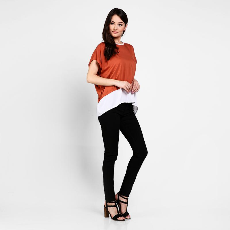 Basa Becky Blouse Orange White