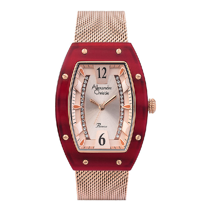 Alexandre Christie Passion AC 2778 LH BRGRG Ladies Rose Gold Dial Rose Gold Stainless Steel