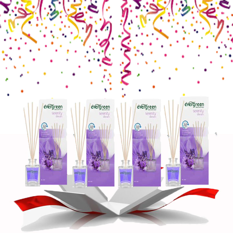 Evergreen Reed Diffuser Set Serenity Dream 30 ml (4pcs)