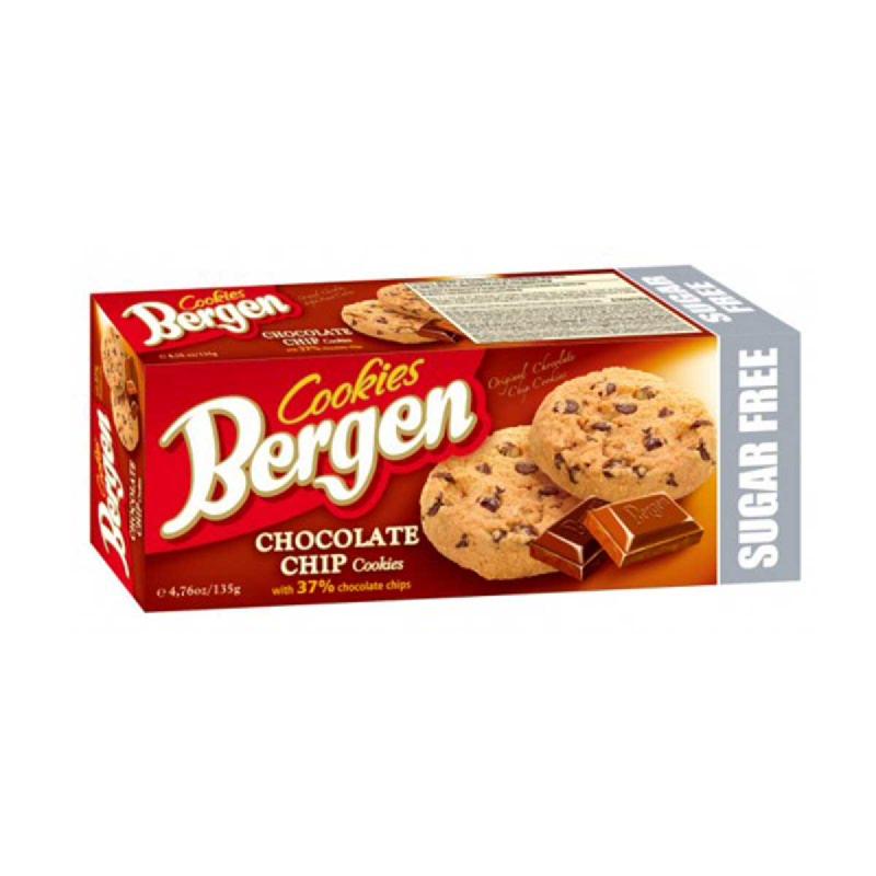 Bergen Sugar-Free Chocolate Chips Cookies 135g