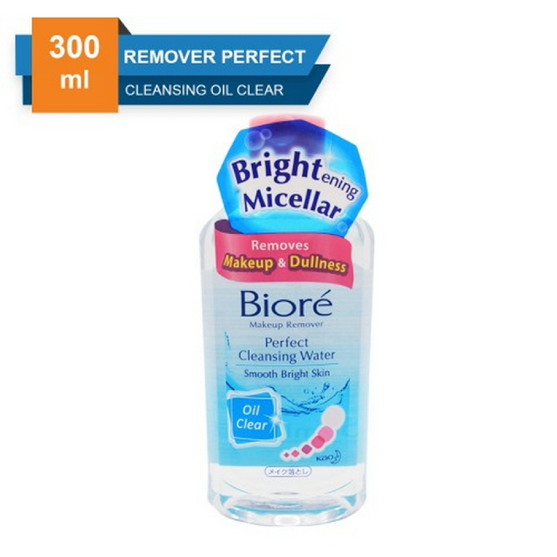 Biore Makeup Remover Perfect Cleansing Water Oil Clear 300 ml