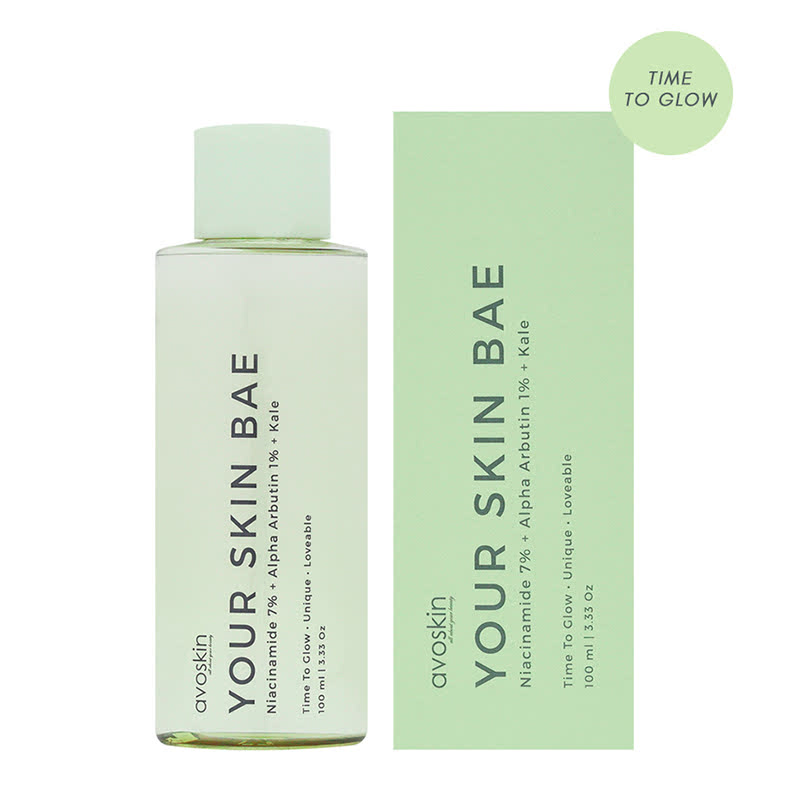 Avoskin Your Skin Bae Series Toner Niacinamide 7% + Alpha Arbutin 1% + Kale