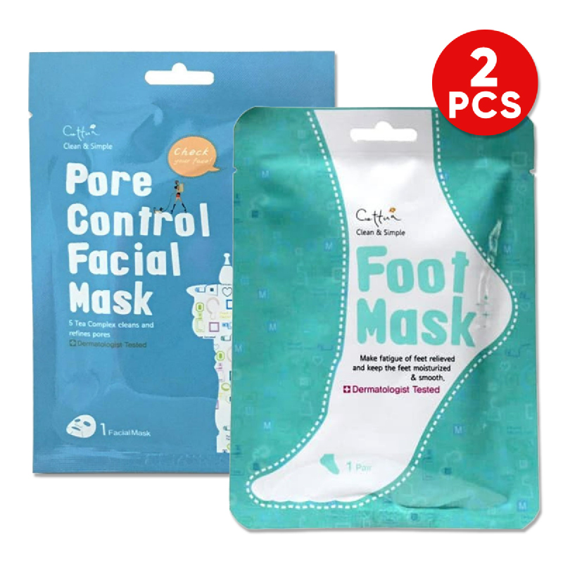 Cettua C&S Pore Control Mask 1S + Cettua C&S Leg Relax Patch 2S