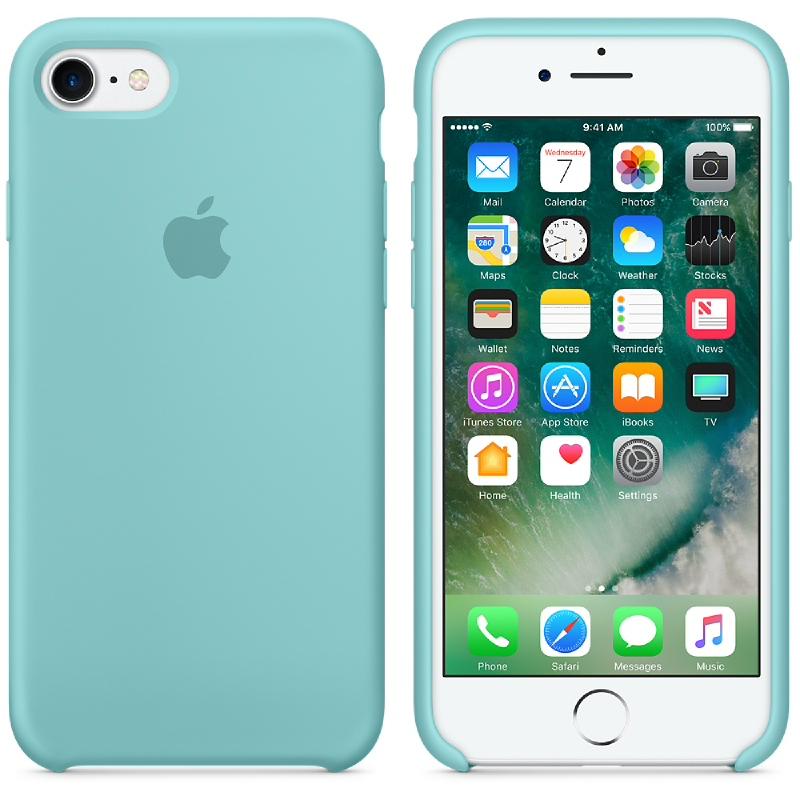 iPhone 7 Silicone Case - Sea Blue
