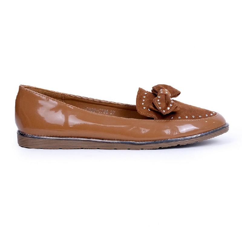 Austin Flats Shoes Kacia Brown