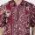 Batik Muda Hem Cirebon Shirt Maroon