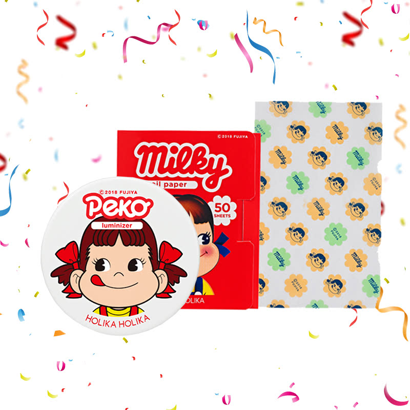 Holika Holika Peko Milky Jelly Luminizer 6g + Peko Oil Paper