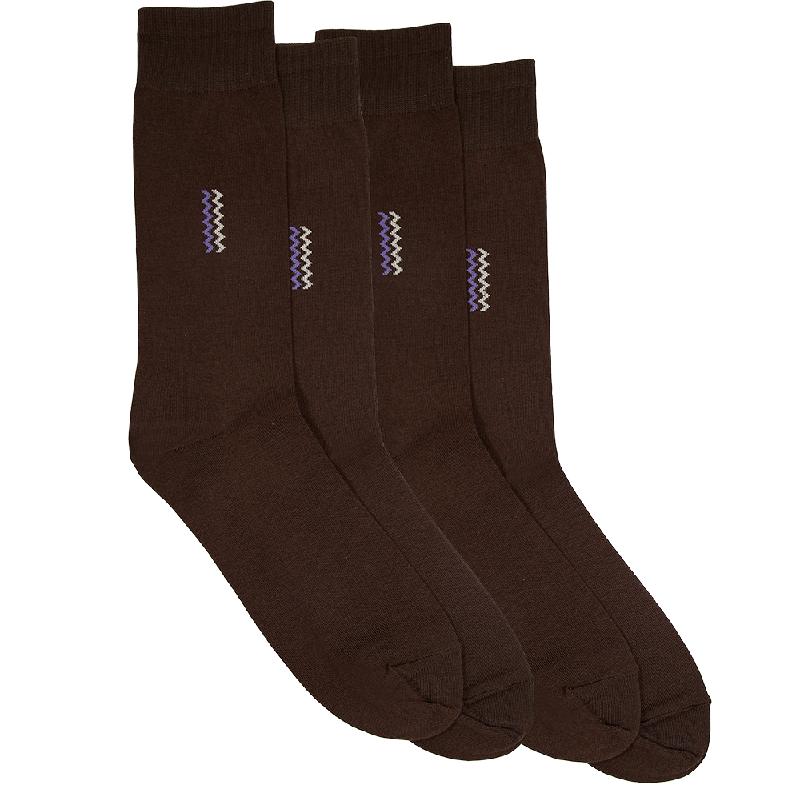 Gunze Men Casual Socks (2 Pairs) 0A225Brown