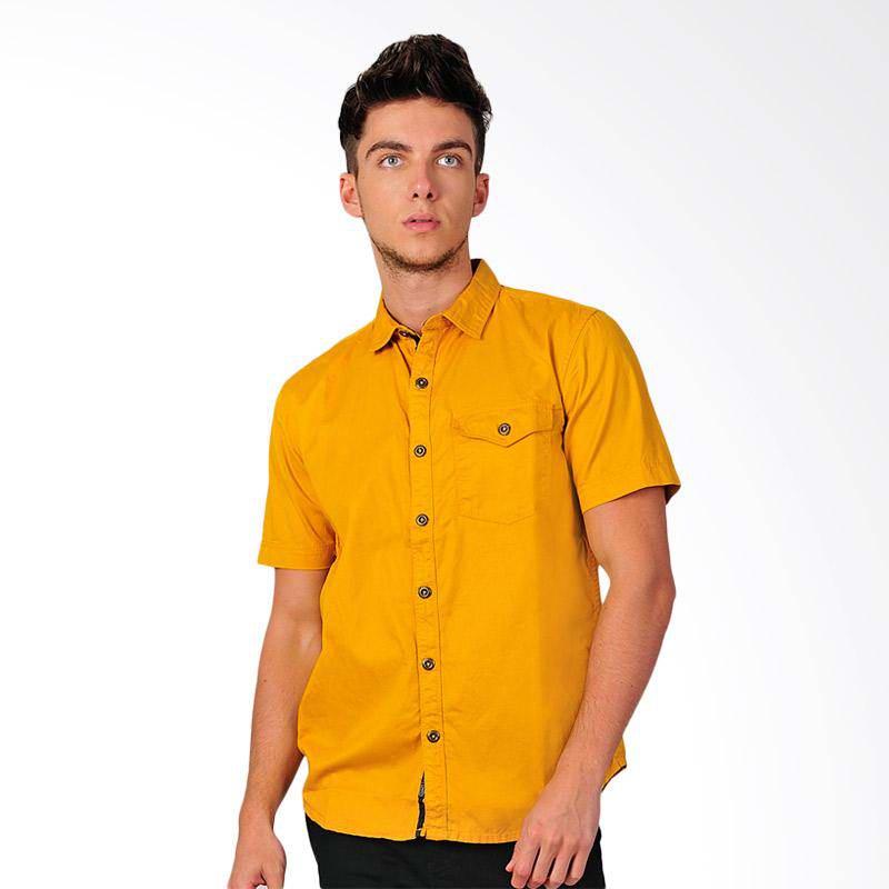 New Tanaska Mens Shirt Kemeja Pria - Yellow