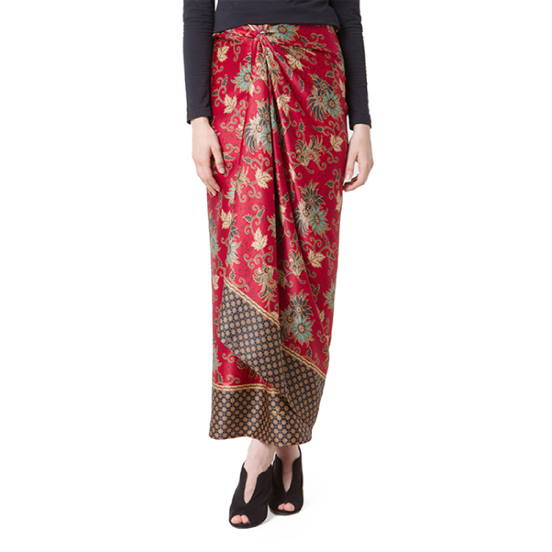 Raden Sirait Skirt Serut Ravana Maroon