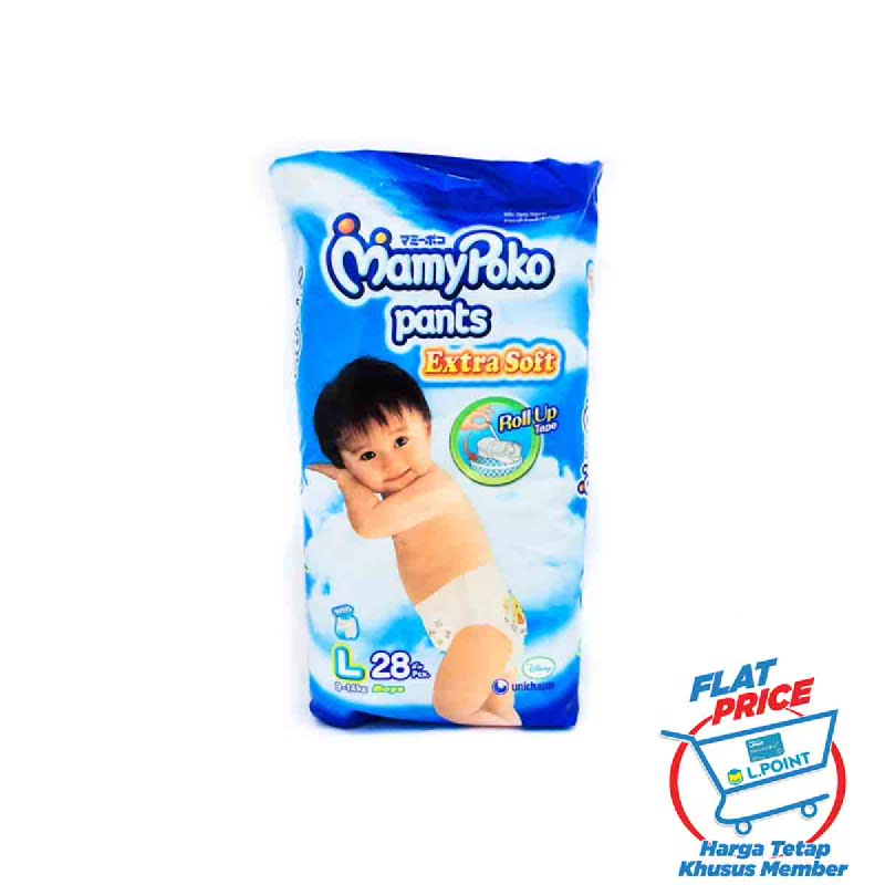 MamyPoko Popok Celana Royal Soft L 28S (Boy) (Flat Price)