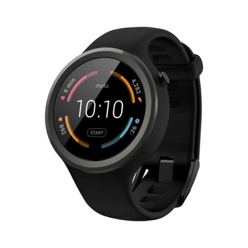 Moto 360 45mm Sport Smartwatch - Hitam