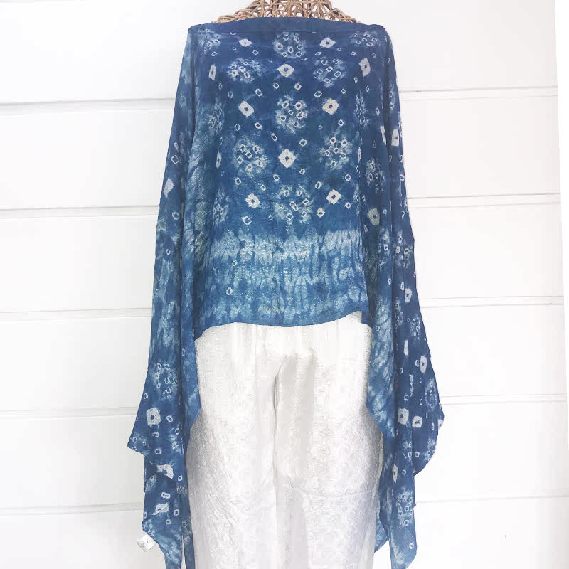 Batik Chic Cape Jumputan Biru