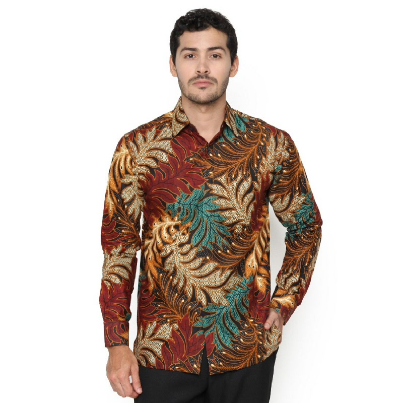 Agrapana Danendra Kemeja Batik Print Regular Lengan Panjang