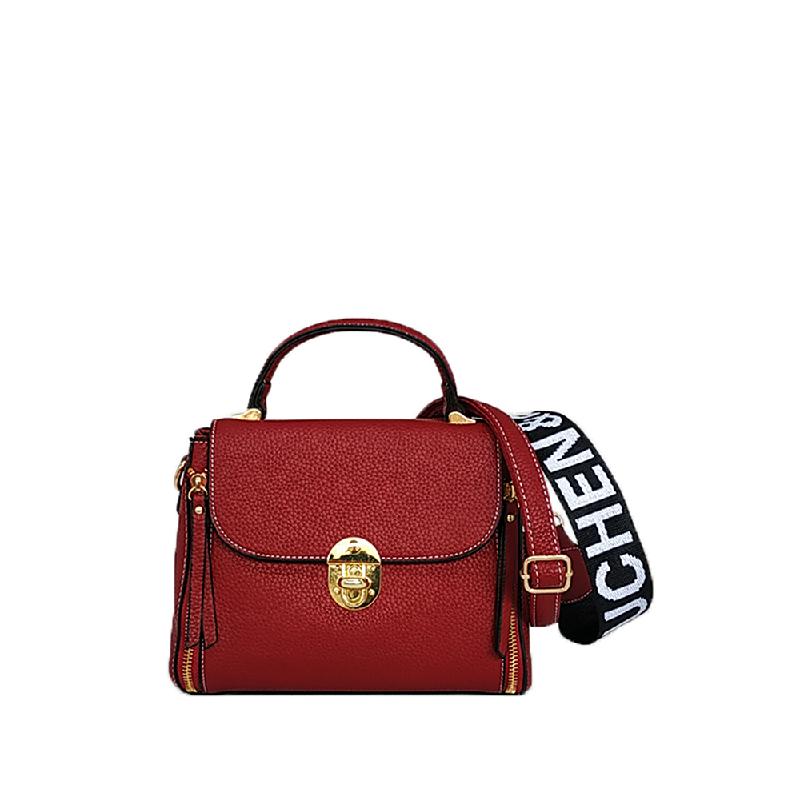 Catriona Colenne Top Handle Bag Maroon