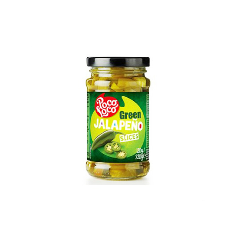 Poco Loco Sliced Green Japalenos 220G
