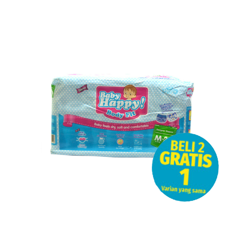Baby Happy Popok M 20 S (Buy 2 Get 1)