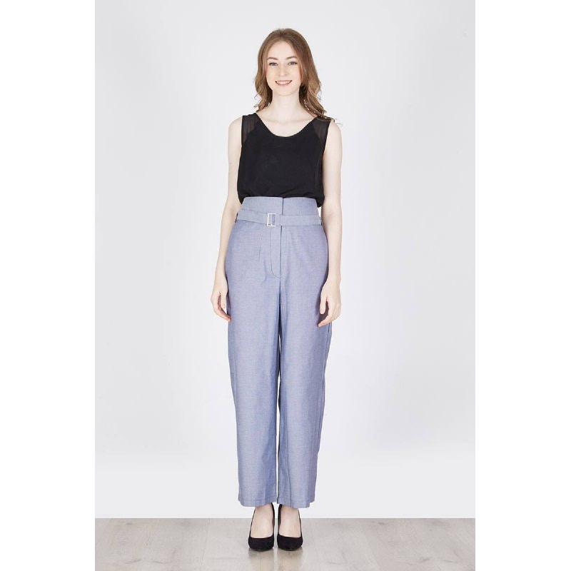 Melina Long Square Pants In Blue