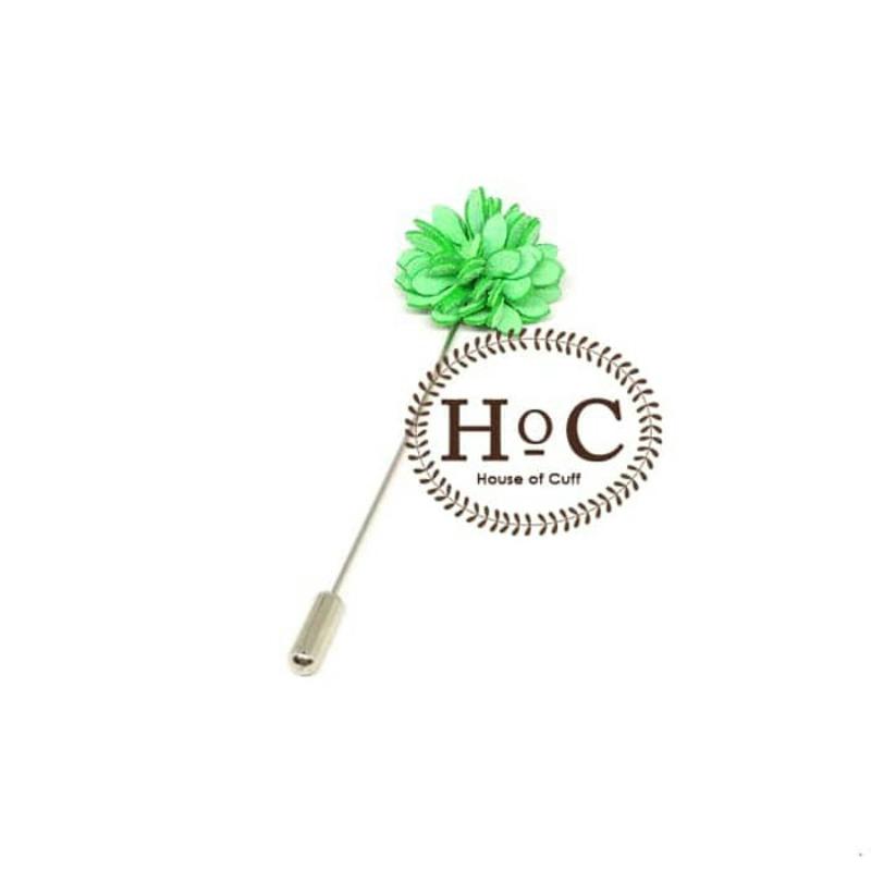 House Of Cuff Korsase Bunga Corsage Brooch Small Green Flower Lapel Pin