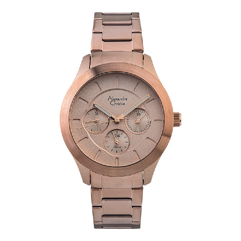 Alexandre Christie Passion AC 2877 BF BRGRG Ladies Rose Gold Dial Rose Gold Stainless Steel