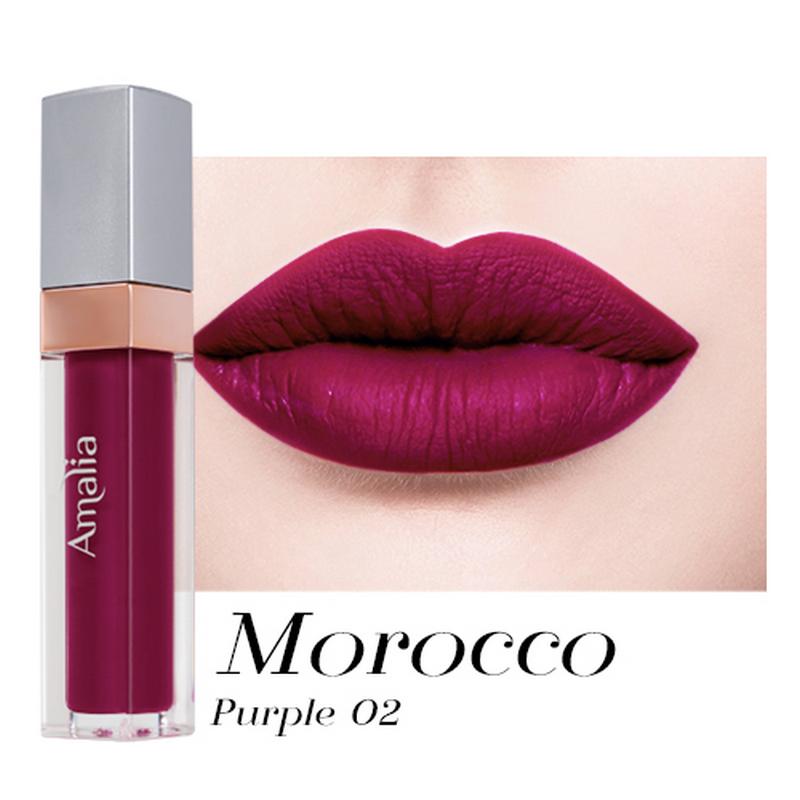 Amalia Matte Lip Cream Morocco Purple 02