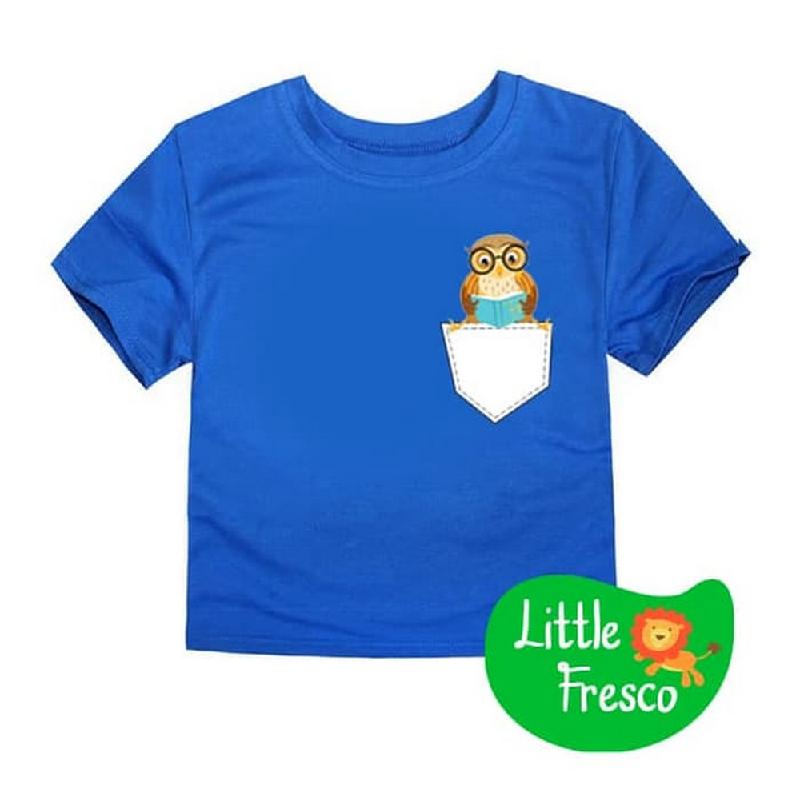 Little Fresco - Kaos Anak Pocket Owl Biru
