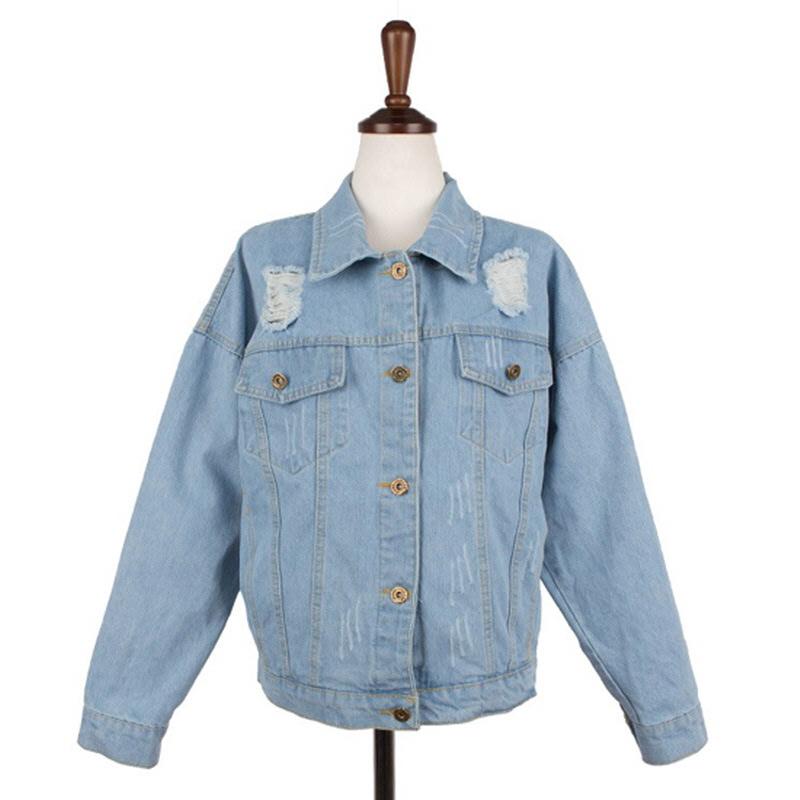 Rolling Damage Denim Jacket - Blue