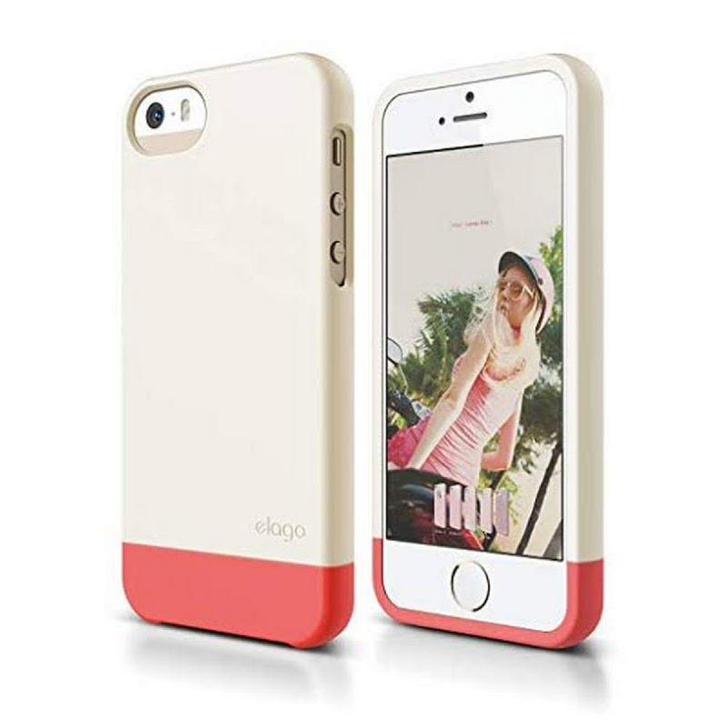 Elago Glide Case for iPhone SE, 5, 5S - SF Italian Rose+SF Coconut