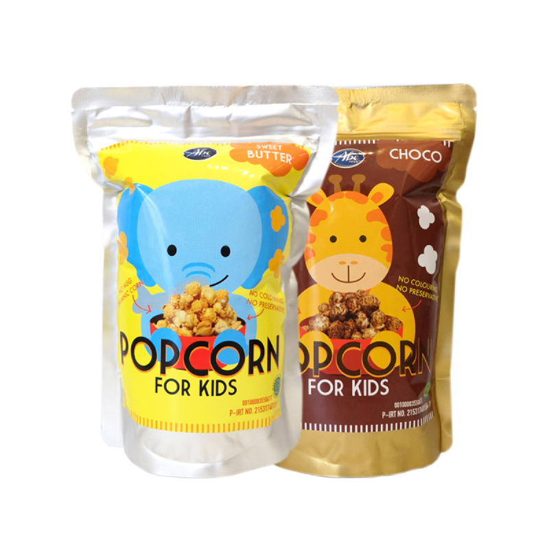 Abefood Chocolate Pop Corn For Kids + Abefood Sweet Butter Pop Corn For Kids