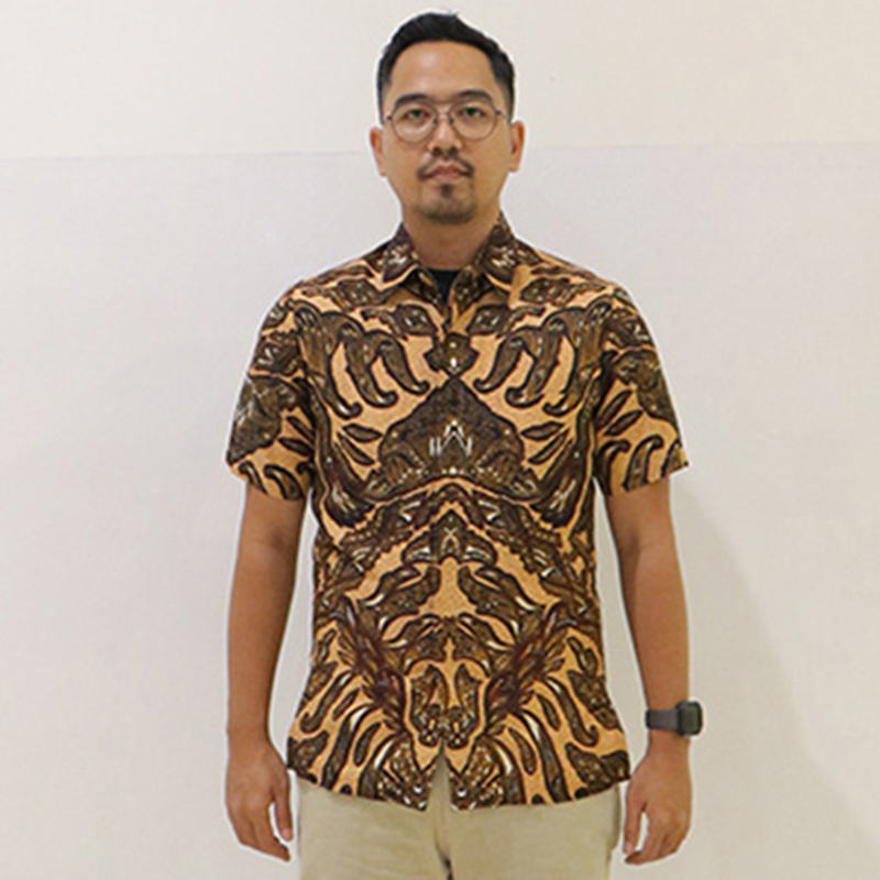 Batik Semar Pria Hem Pendek Fr Db 45 Frp Reno Sasiring Bs 52 M