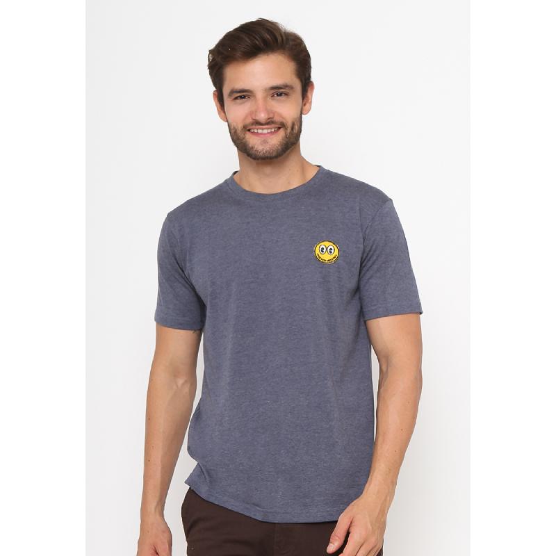 17Seven Smile Life Men Tshirt Grey