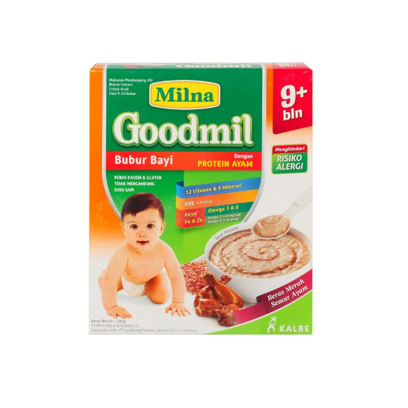 Milna Goodmil Bubur Bayi Rasa Beras Merah Semur Ayam Box 120 Gr