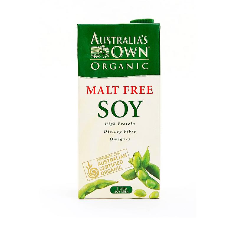 Aust Own Soy Milk Malt Fre 1 L