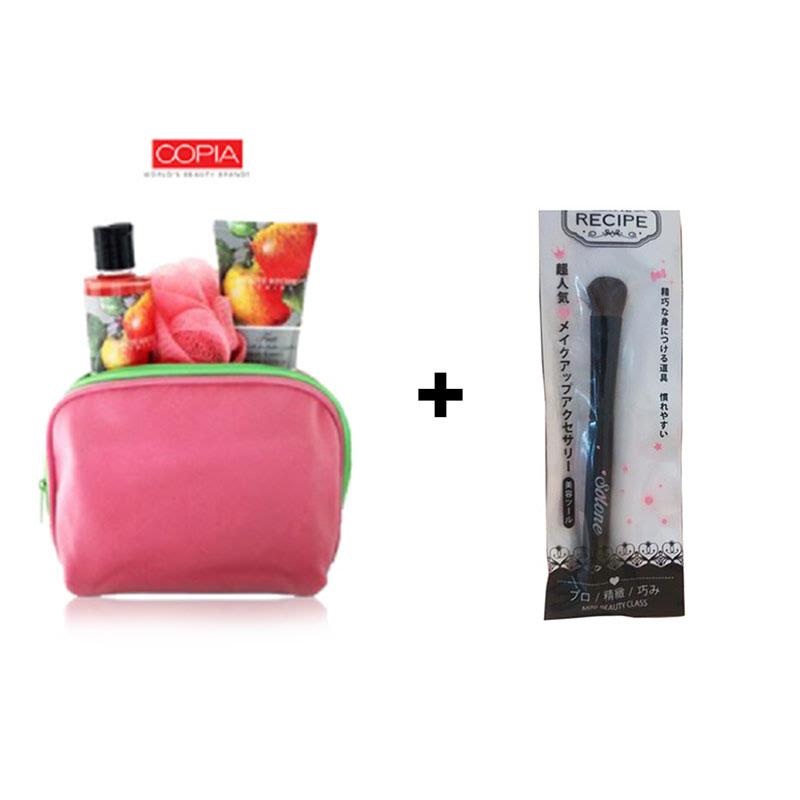 Beaute Recipe Big Brush + Beaute Recipe Fruit Apple & Peach Bath & Shower Set