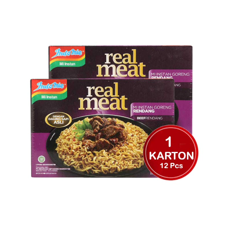 Indomie Real Meat Rendang 110G (1 Karton)