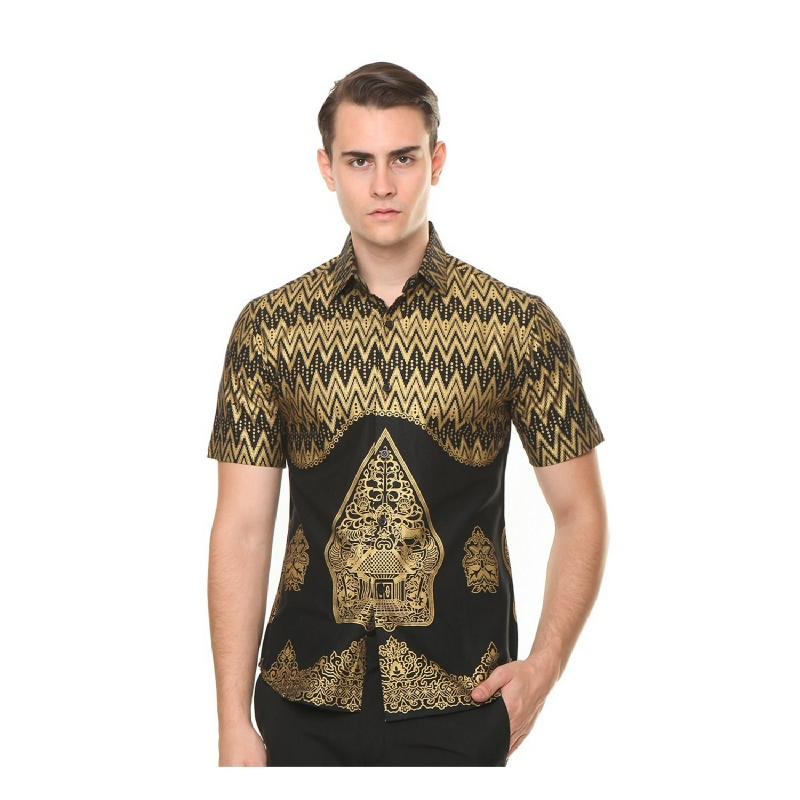Agrapana Aryasuta Slim Fit Kemeja Batik Print