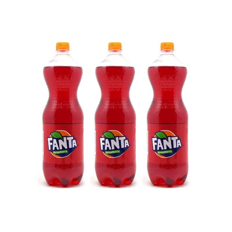 Fanta Stroberi Botol 1500 Ml (Buy 2 Get 1)