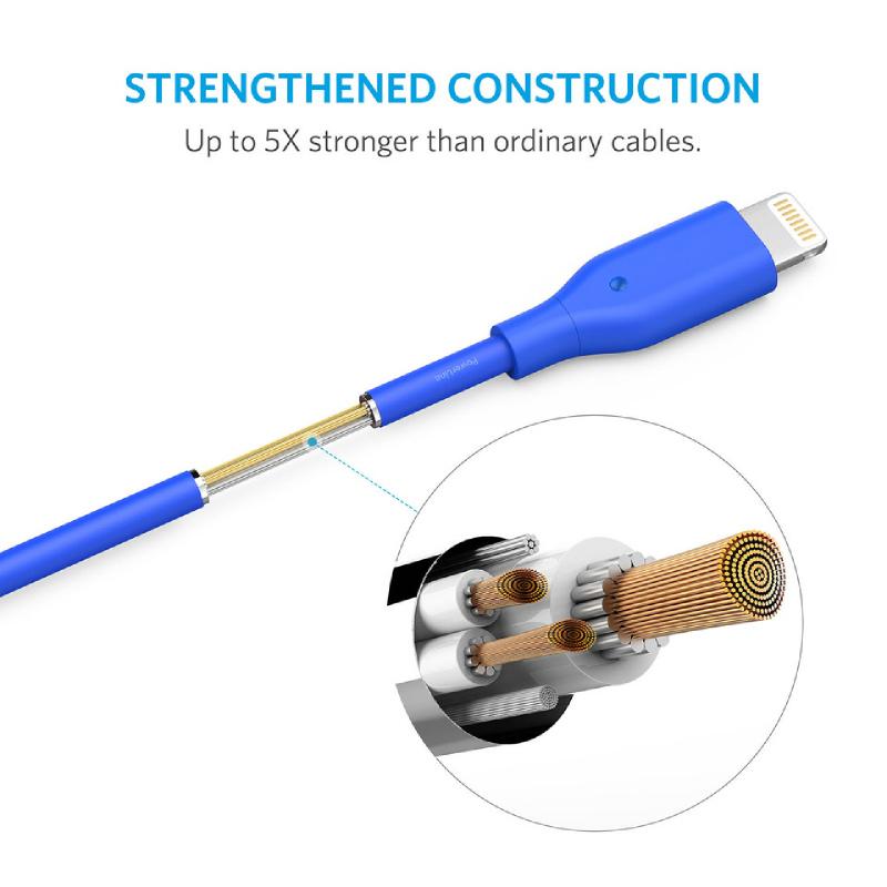 Anker USB PowerLine Lightning (3ft) A8111H31 Biru