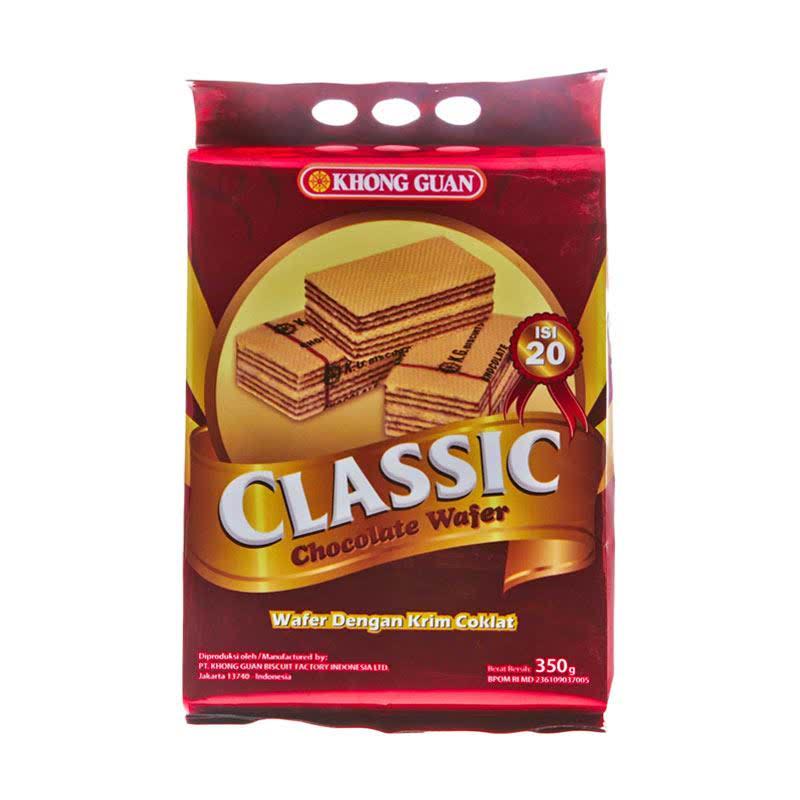Khong Guan Classic Wafer Chocolate 350 gr