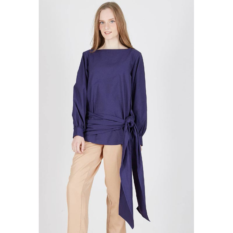 Pandra Wrap Over Top Blue