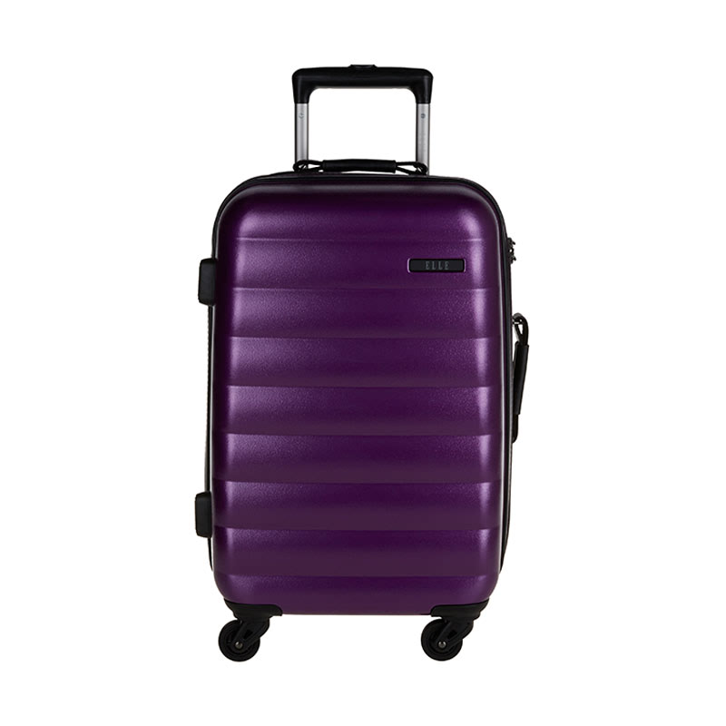 Elle Cabin Hardcase Size 20 inch Luggage 4 Wheels TSA Lock - Purple