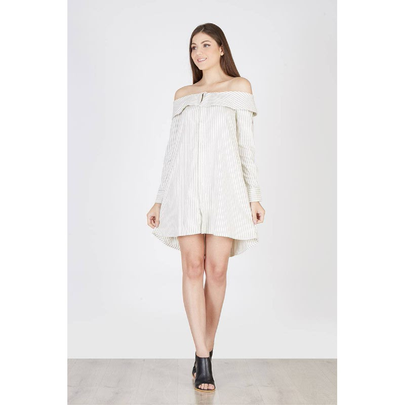 Natasha Shirt Dress Broken White