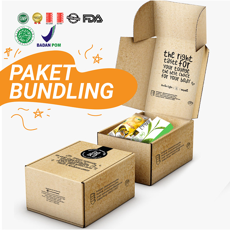 MyBio - Paket Bundling MyBio Durian Coffee + Exotic Matcha Green Tea