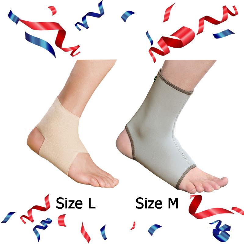 Ankle Brace - EAN001 (Size L) + E-Life Longer Ankle Brace Size M
