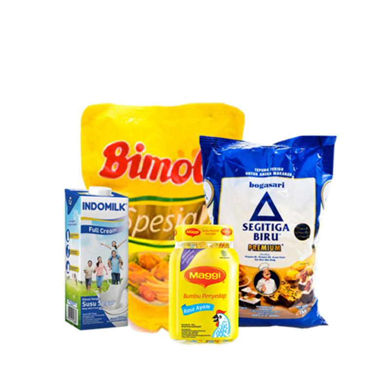 Minyak Goreng Bimoli Bogasari Tepung Terigu Segitiga Biru