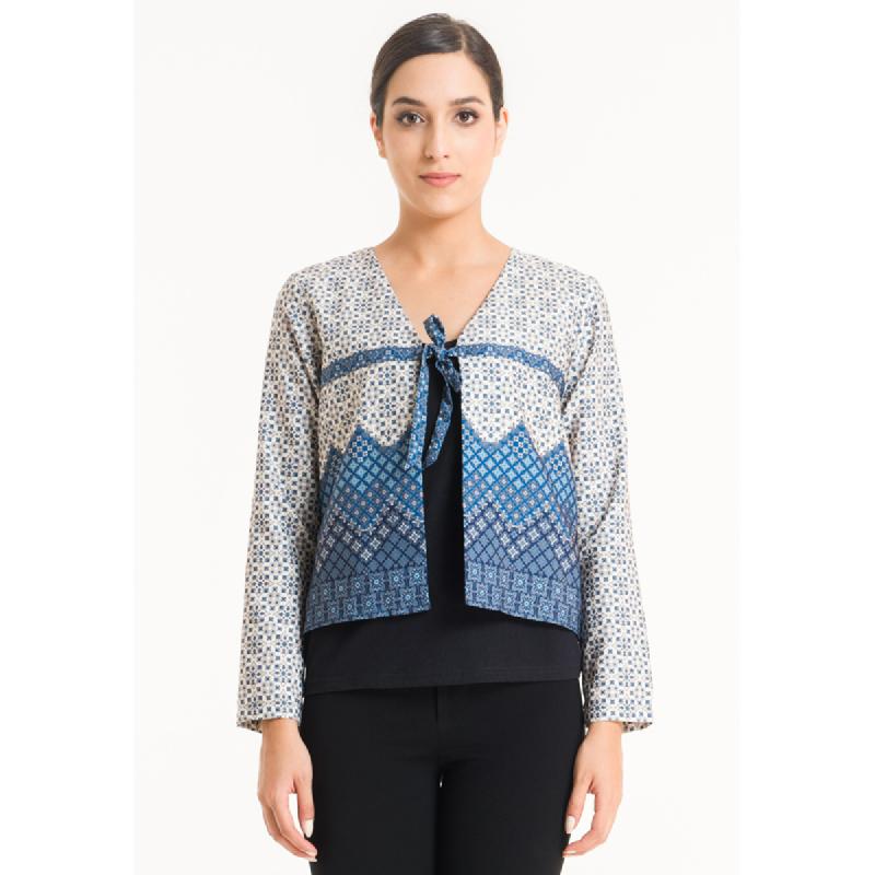 Bateeq Women Cardigan Cotton Print FL003F-SS18 Cream