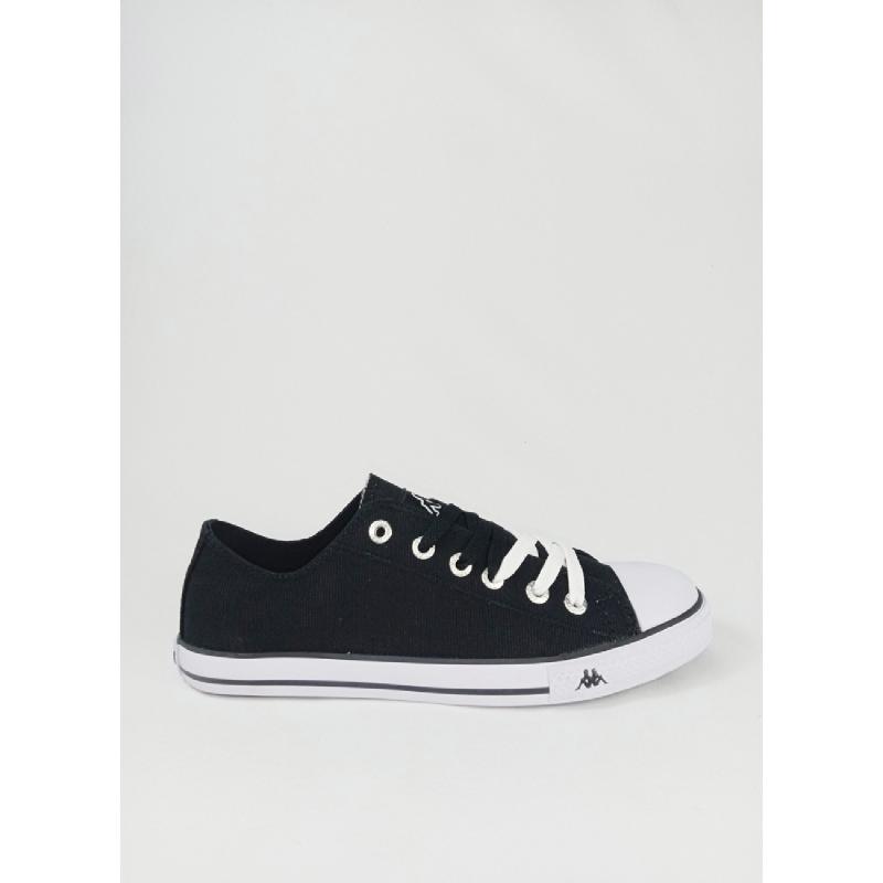 Kappa Simple Low Sepatu Sneaker - Blk White