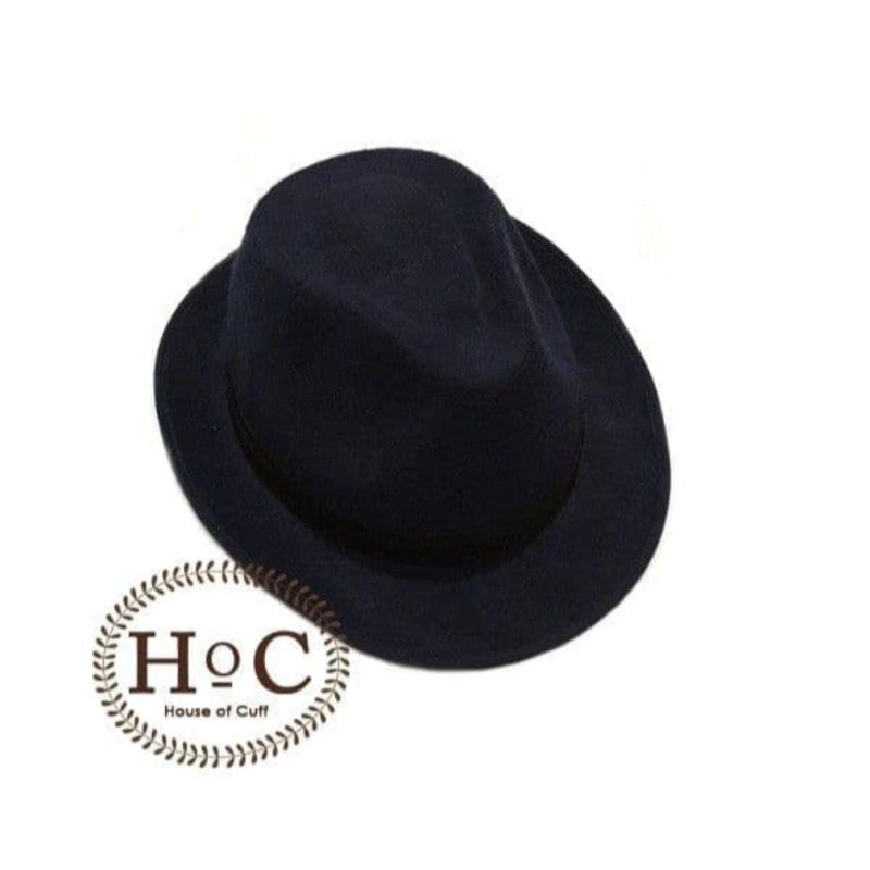 House Of Cuff Topi Fedora Hat Dark Blue Fedora Hat Laken